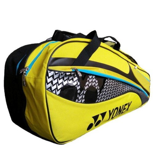 YONEX SUNR M101TK BT6S Badminton Kit Bag Black and Yellow