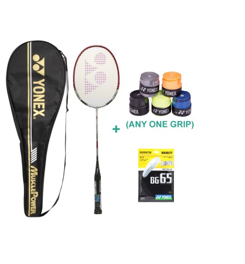 Yonex Muscle Power 600 Badminton Racket With Grip and String