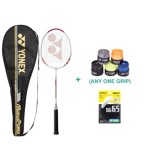 Yonex Muscle Power 700 Badminton Racket With Grip and String