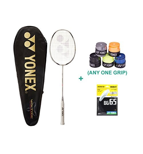 Yonex Voltric 1 LD With Yonex Badminton Grip and Racket String