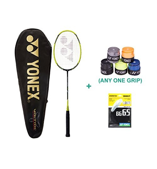 Yonex Voltric 2 DG With Yonex Badminton Grip and Racket String
