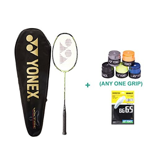 Yonex Voltric 7 DG With Yonex Badminton Grip and Racket String