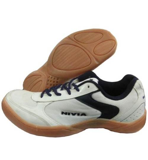 NIVIA Flash White and Black Badminton Shoes