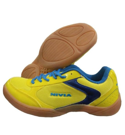 NIVIA Flash Yellow and Blue Badminton Shoes
