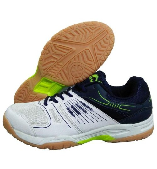 NIVIA Gel Verdict Badminton Shoes A Blue White Lime