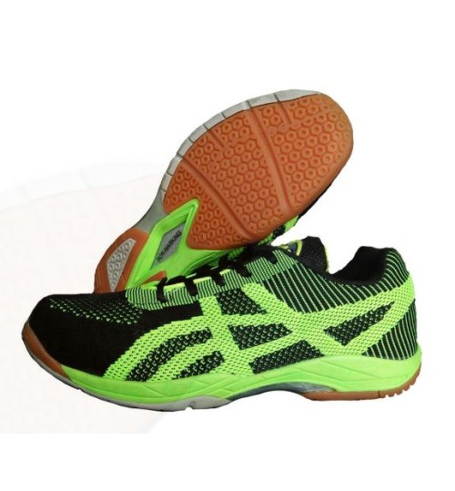 PRO ASE BG010 Black and Green Badminton Shoe