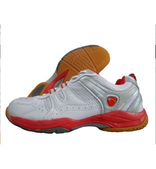 PRO ASE Court Red and White Badminton Shoe
