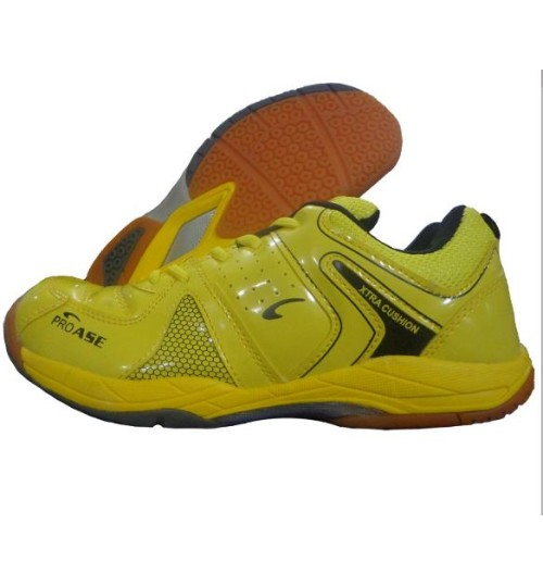 PRO ASE Xtra Cushion Yellow Badminton Shoe
