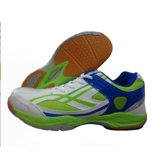 PRO ASE 005 White and Green Badminton Shoe