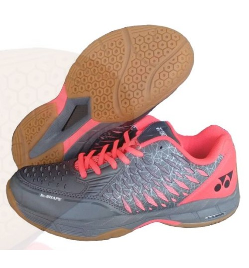 Yonex Court ACE Matrix Gray and Red Badminton Shoes