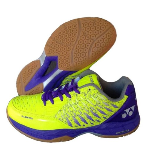 Yonex Court ACE Matrix Lime and Purple Badminton Shoes