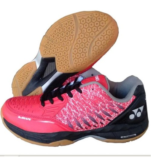 Yonex Court ACE Matrix Red and Black Badminton Shoes