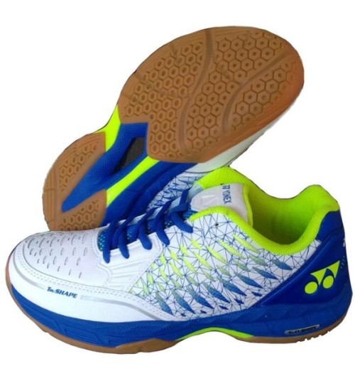 Yonex Court ACE Matrix White and Blue Badminton Shoes