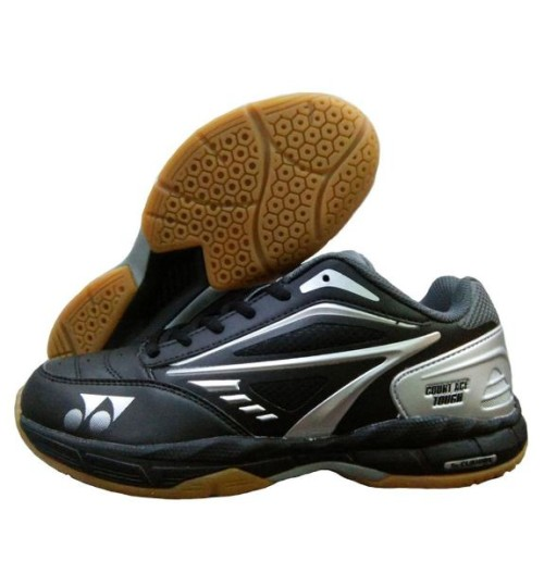 Yonex Court ACE Tough Grey and Silver Badminton Shoes Black