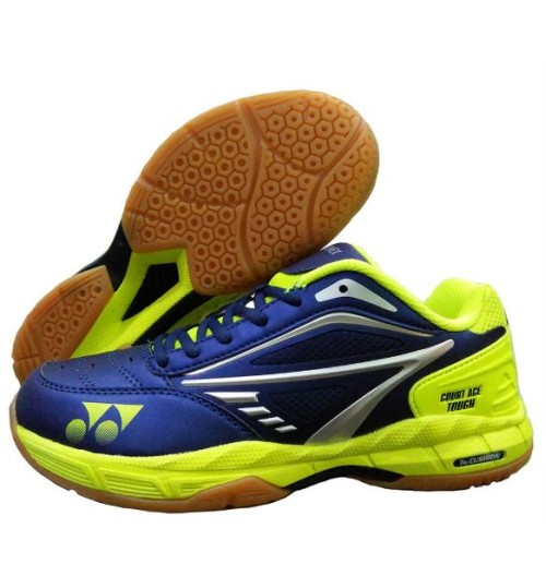 Yonex Court ACE Tough Lime and Lime Badminton Shoes Navy