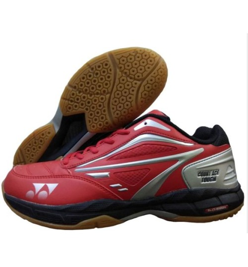 Yonex Court ACE Tough Red  Black and Silver Badminton Shoes