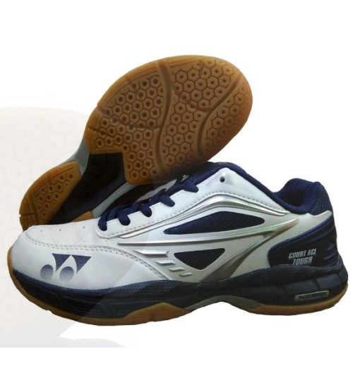 Yonex Court ACE Tough White Navy and Black Badminton Shoes
