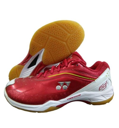Yonex Power Cushion 65AW Wide Red Badminton Shoes
