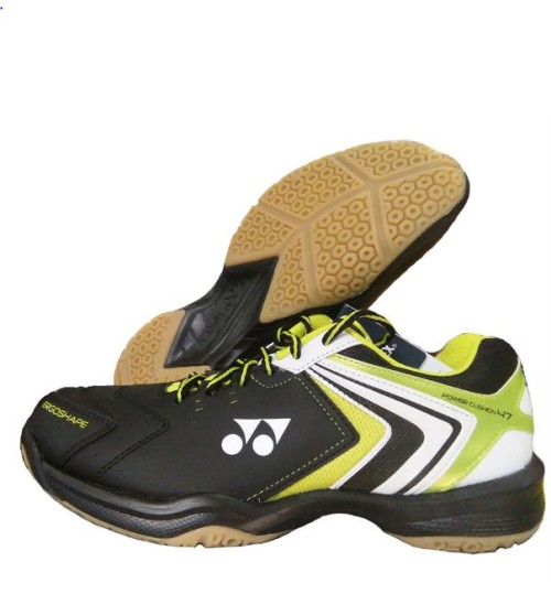 Yonex Power Cushion SHB 47EX Black and Lime Badminton Shoes