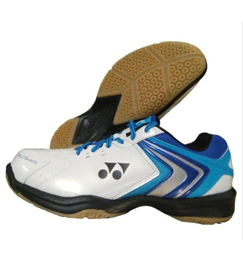 Yonex Power Cushion SHB 47EX White and Blue Badminton Shoes