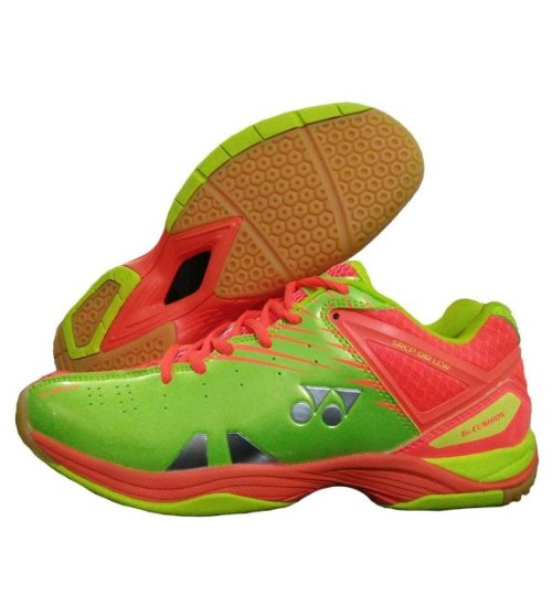 Yonex SRCP 01R LCW Orange and Lime Green Badminton Shoes