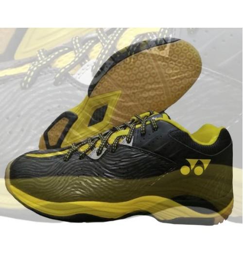 Yonex SRCP CFT Tru Black and Yellow Cushion Badminton Shoes