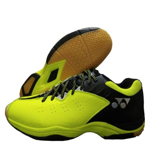 Yonex SRCP CFT Tru Cushion  Lime and Black Badminton Shoes