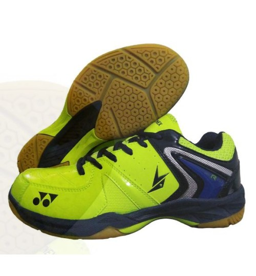 Yonex Court ACE Tough Blue and Purple Badminton Shoes Lime