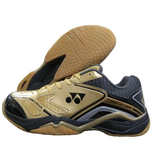 Yonex SRCR Court ACE Light Gold Black and Gray Badminton Shoes