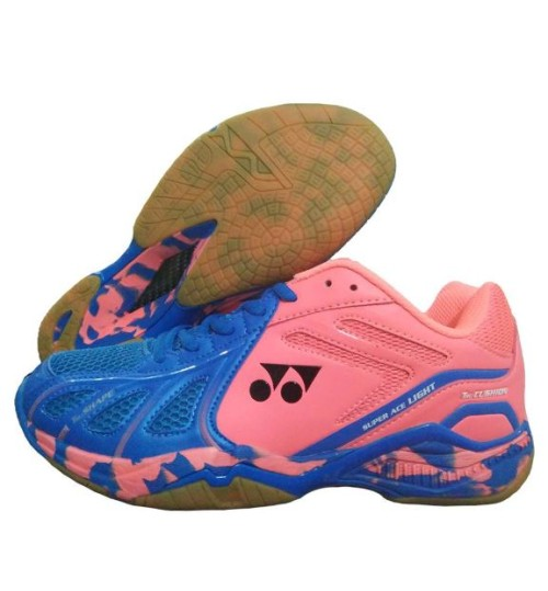 Yonex Super ACE Light Blue and Orange Badminton Shoes