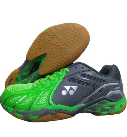 Yonex Super ACE Light Bright Green and Dark Grey Badminton Shoes