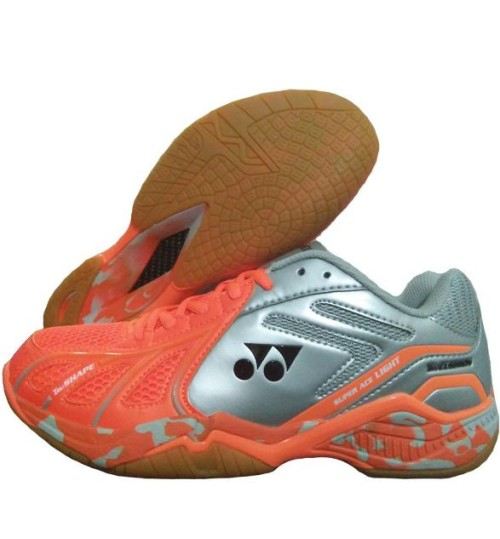 Yonex Super ACE Light Orange and Silver Badminton Shoes