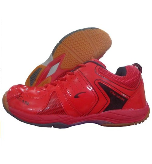 PRO ASE Xtra Cushion Red Badminton Shoe