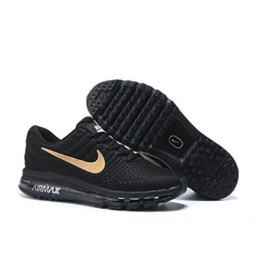 brand new bd4fc 2c43b Sale Nike Air Max 2017 Black With Golden Tick