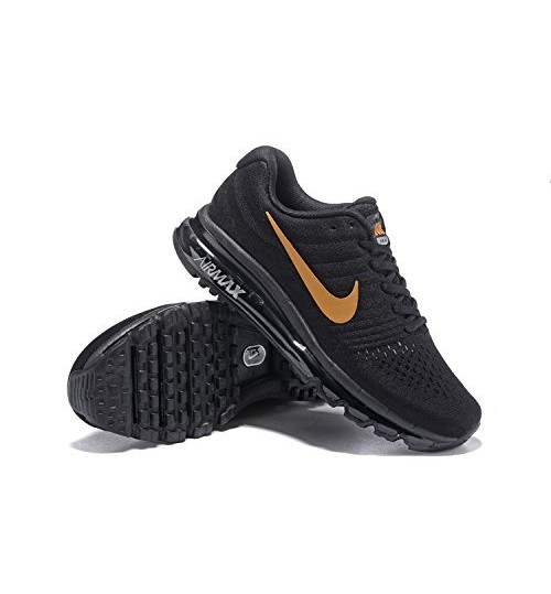 watch 3348e 7c6f2 Nike Air Max 2017 Black With Golden Tick