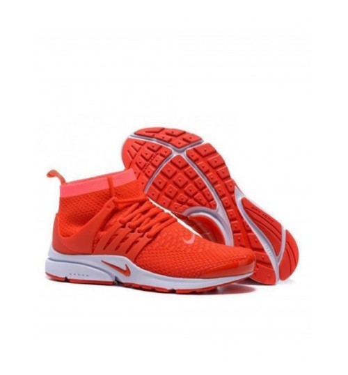 Nike Air Presto Flyknit Orange White Sport shoes