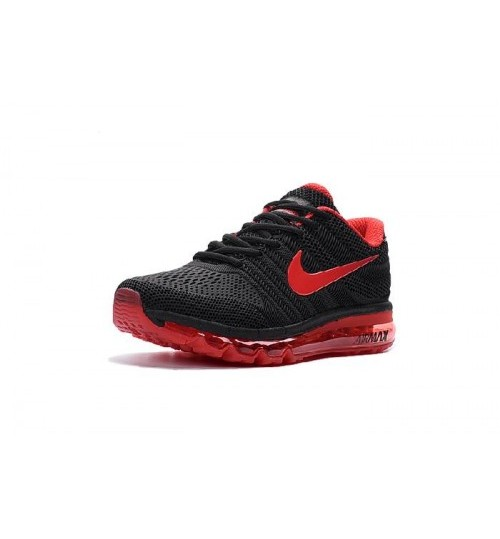 Nike airmax 2017 red black shoes