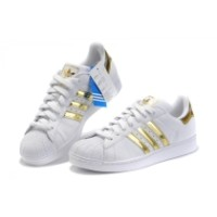 Adidas Superstar Sneaker Casual Golden White Shoes