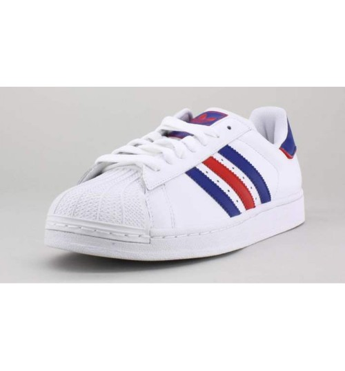 Adidas Superstar Sneaker White Red Blue Shoes