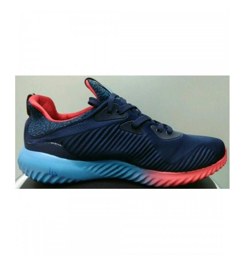 9aa6308f03161 Adidas Alphabounce Navy Blue Red Sport Shoes