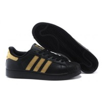 Adidas Superstar Black Gold Sneaker Shoes