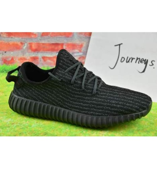 Adidas Yeezy 350 Boost Black Sports Shoes