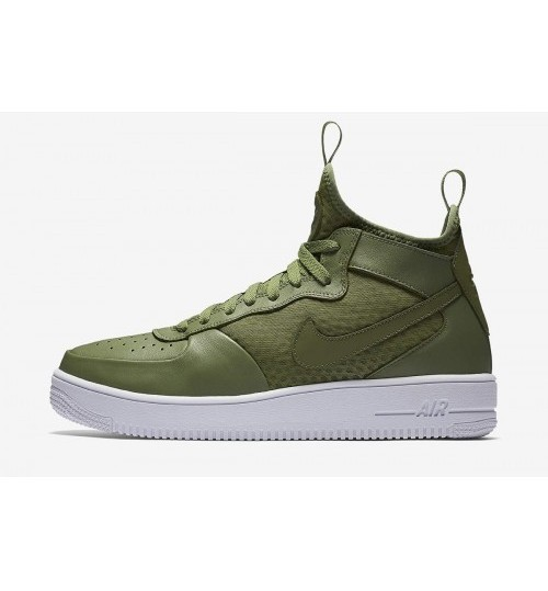 Nike Air force 1 Mid Ankle Palm Green For Men's