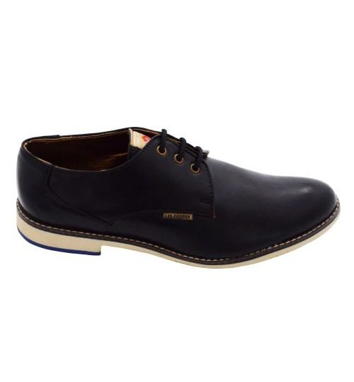 Lee Cooper Men's Leather Blue Formal Shoes