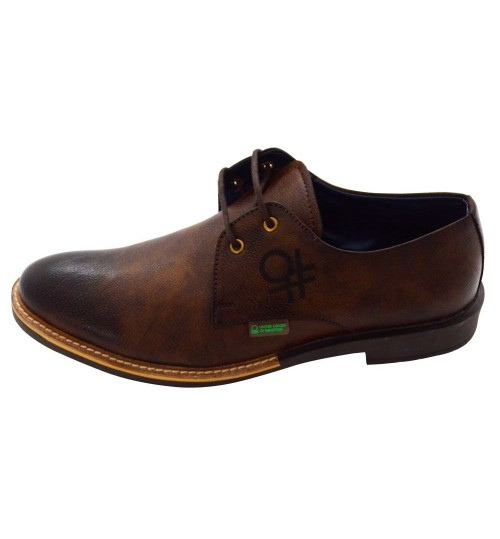 UCB Men's Leather Dark Brown Formal Shoes