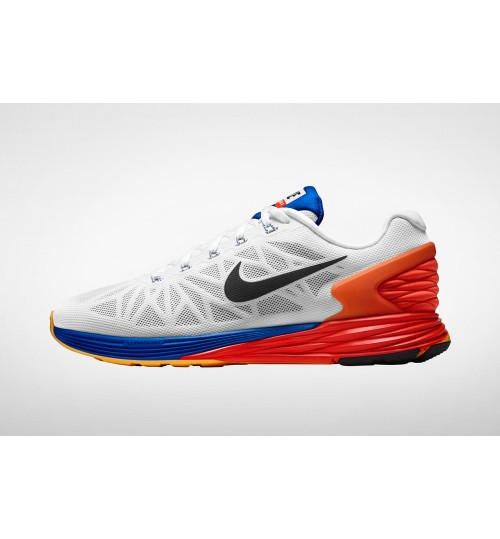 best sneakers 84bc3 683a9 Nike Lunarglide 6 White Orange   Shop Online at Shoppinglala.com