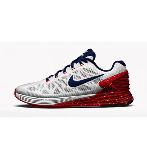 Nike Lunarglide 6 White Red