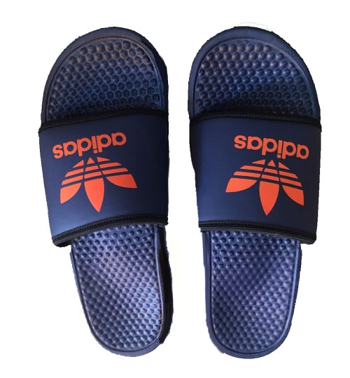2ccfe6b13399a Adidas Men Navy Blue Slip-on Flip Flops   Shop Online At ...