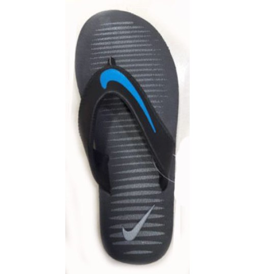 premium selection 192ab 6fc26 Sale Nike Slippers with Blue Tick