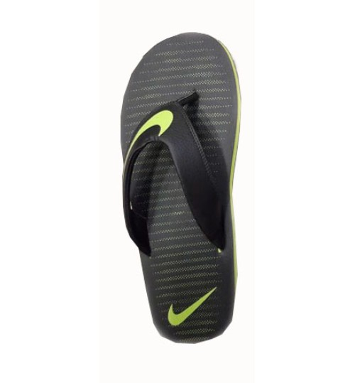 Nike Slippers with Green Tick